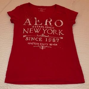 Red Aeropostale V-Neck T-shirt